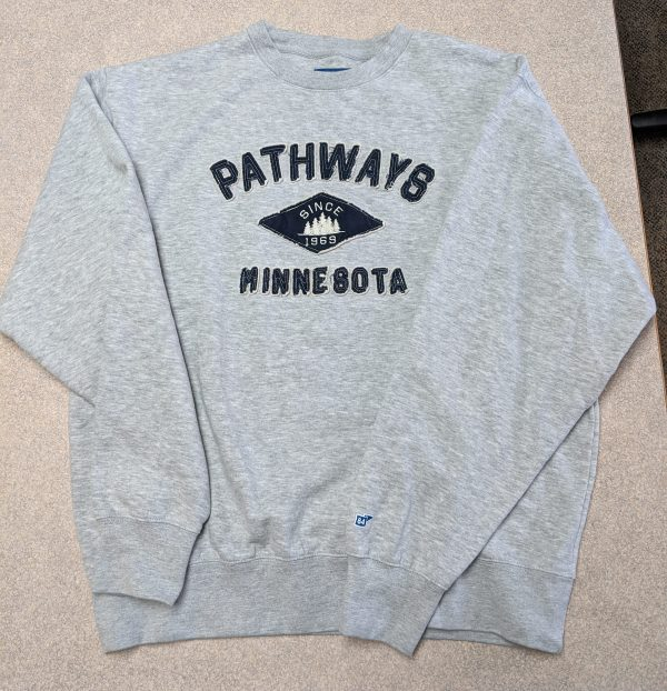 Grey sweatshirt with Pathways and diamond