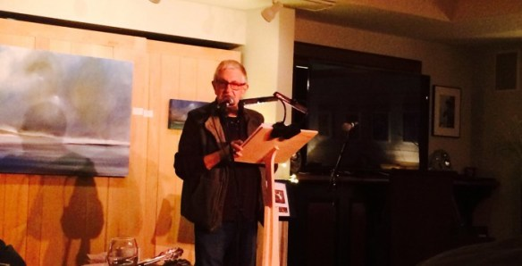 Poet Lee McCormack reads from his poem