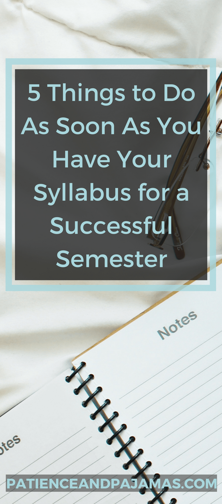 5 Things to Do When You Get Your Syllabus to Set Yourself Up for Success!