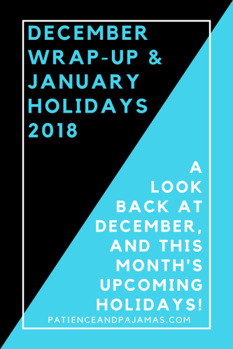 January holidays 2018