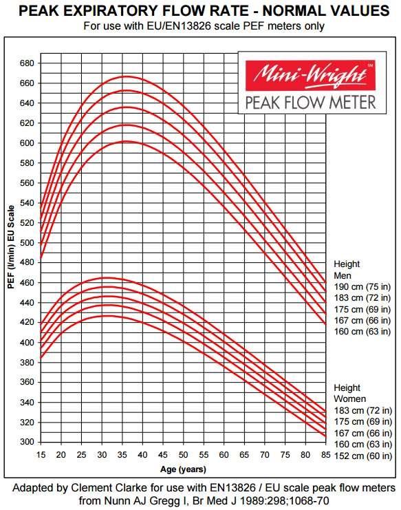Peak Flow Meter Chart Female Homeschoolingforfree