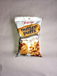 A bag of nutter puffs, front view.