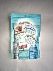A bag of Crazy Go Nuts walnuts, back view