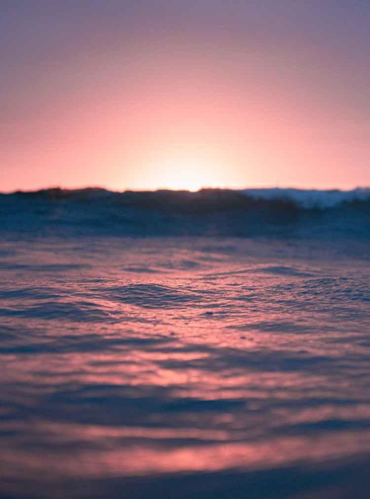 calm sea at colorful sunset
