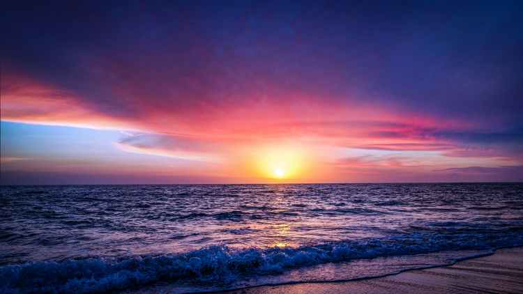 jetty sea dawn landscape