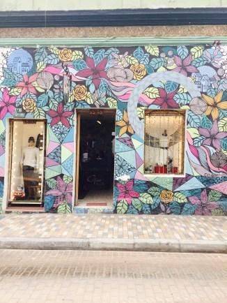 a vintage boutique