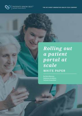 Rolling out a patient portal at scale