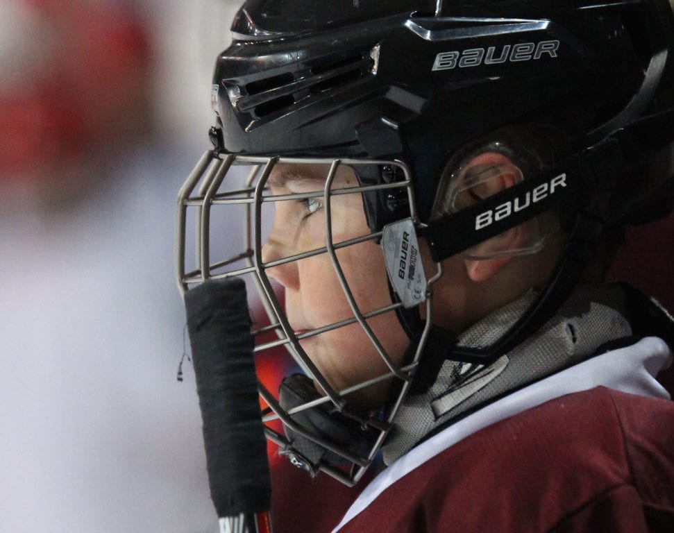 Boy of 10 with Rare Disease Joins College Hockey Team