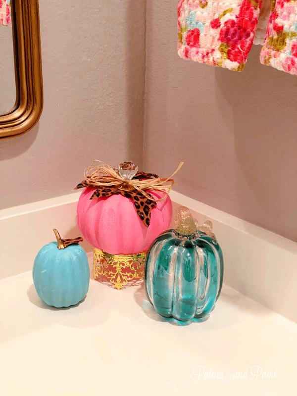 dressed up pumpkins