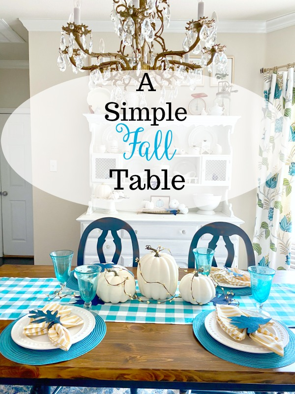 A Simple Fall Table