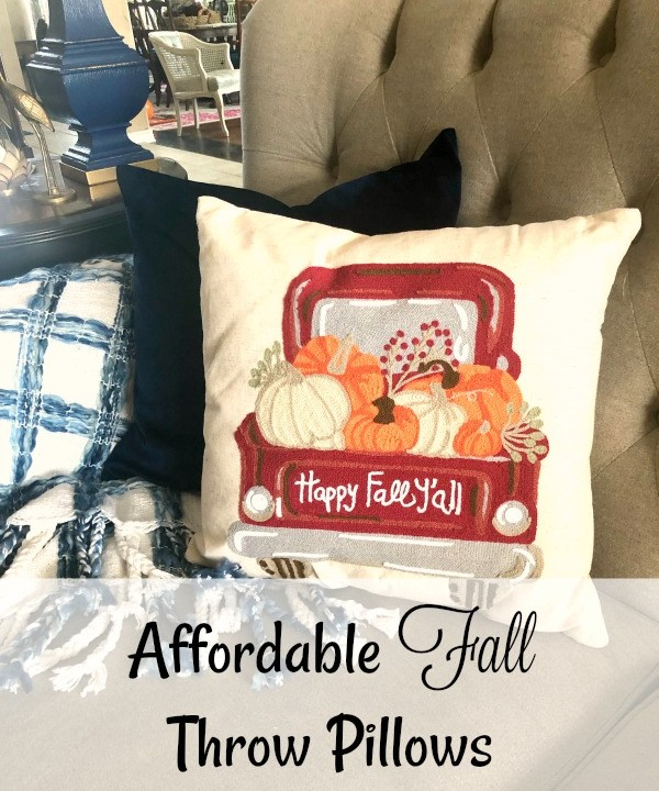 Fall truck throw pillow