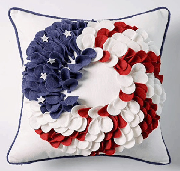 red, white and blue pillow inspiration