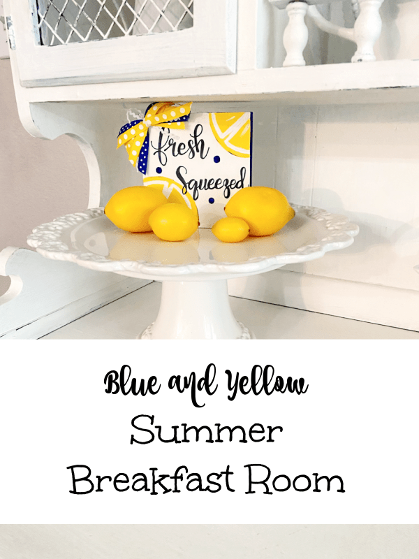 Blue and Yellow Summer Breakfast Room