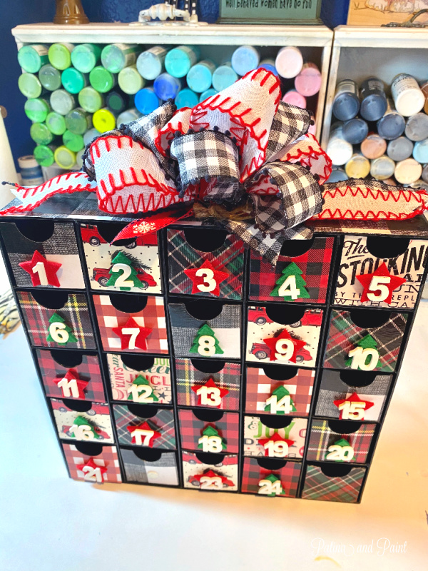 Christmas Advent Calendar with bow