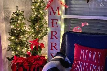 Christmas lights, pillow
