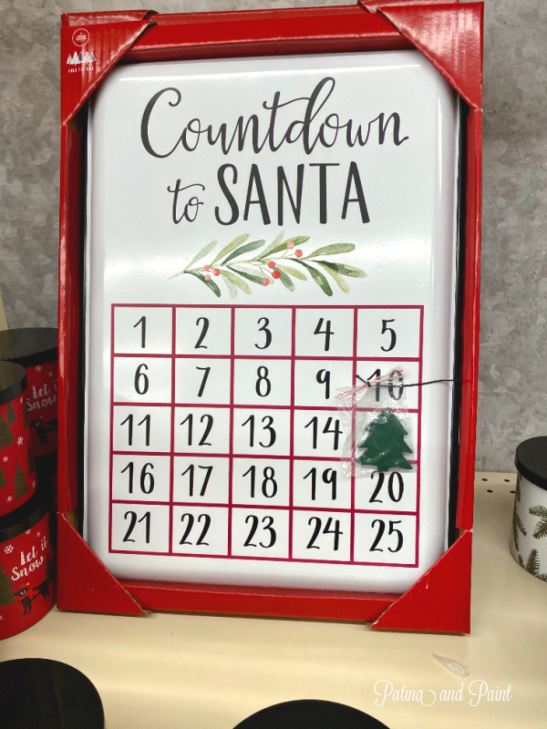 countdown to Santa sign
