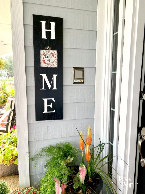 fall home sign