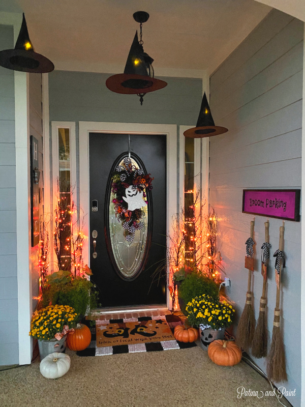 Halloween front porch