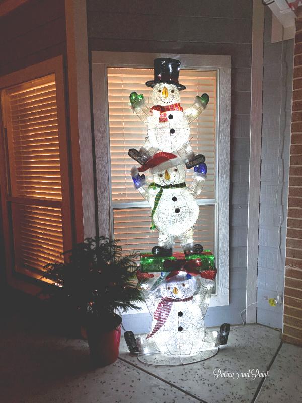 lit up snowmen