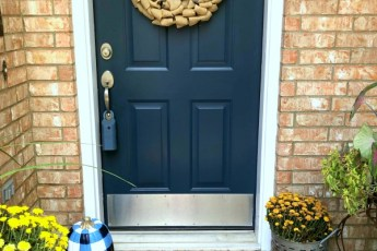 Navy and Orange fall front porch