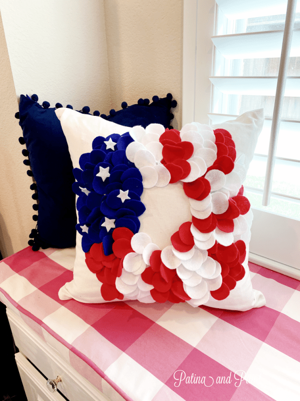 Red, White and Blue Pillow