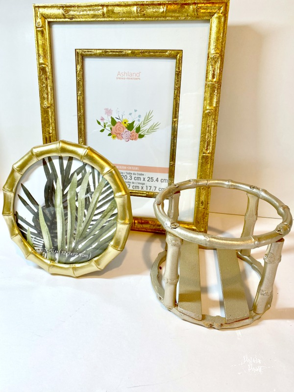 bamboo picture frames, candleholder