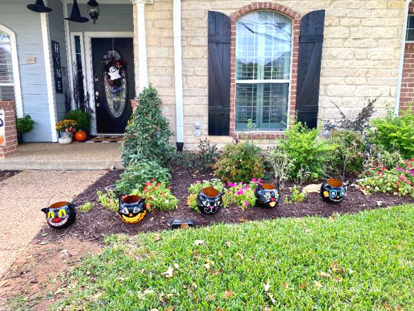 painted black cat pails