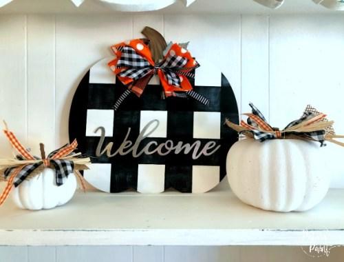 Buffalo check pumpkin