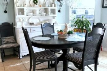 kitchen table, kitchen hutch