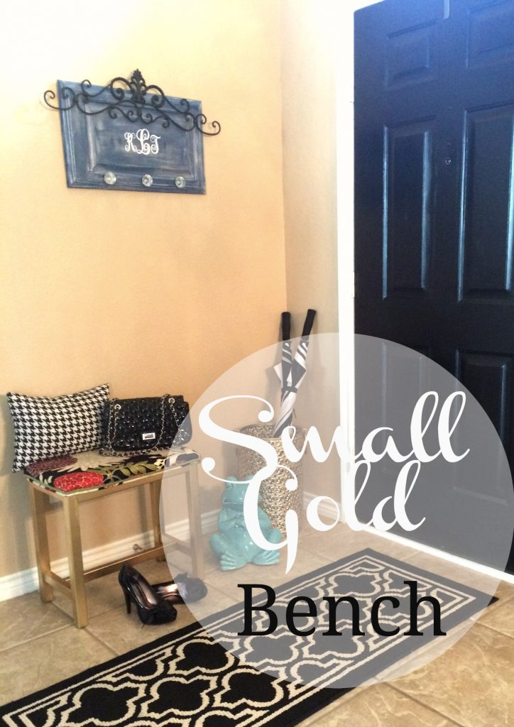 Small Gold Bench