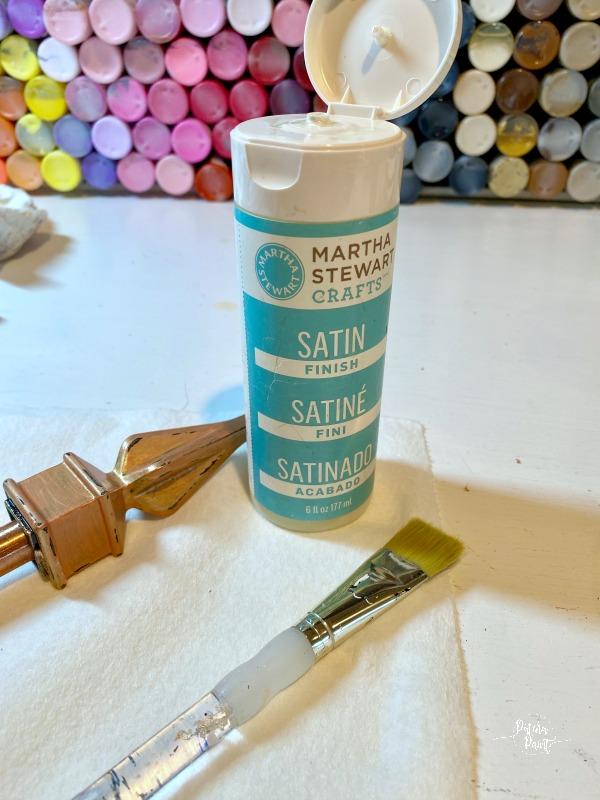 garden hose guide, MS satin finish paint, paintbrush