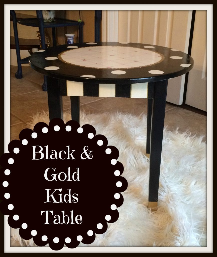 Black and Gold Kids Table