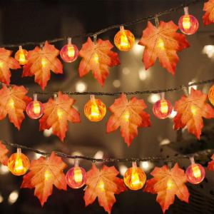 Fall Leaf LED Garland