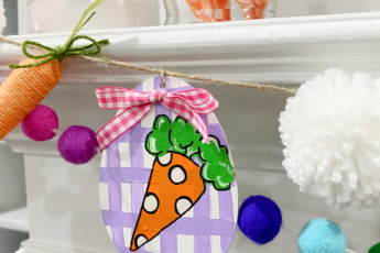 Painted carrot on egg
