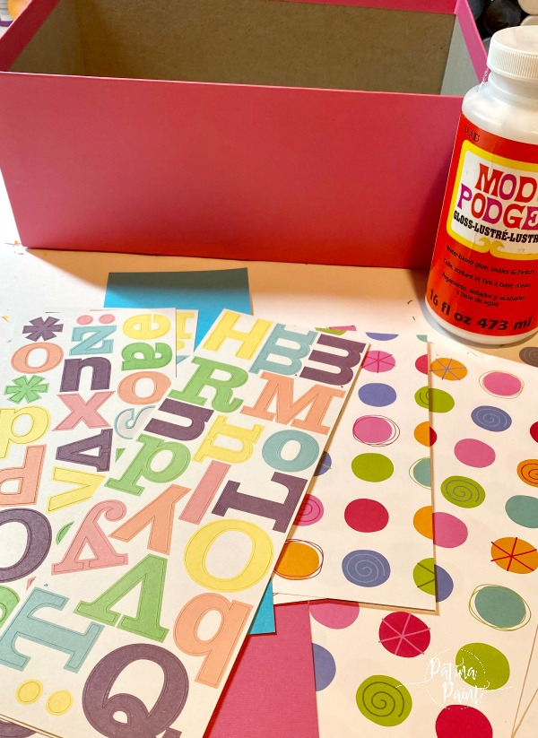 scrapbook supplies, mod podge