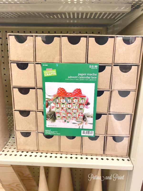paper mâché advent calendar