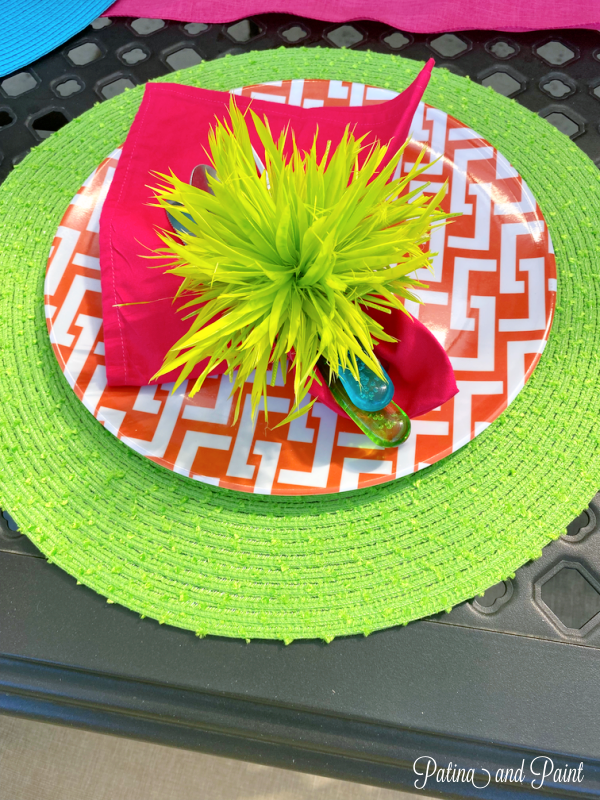 colorful placesetting