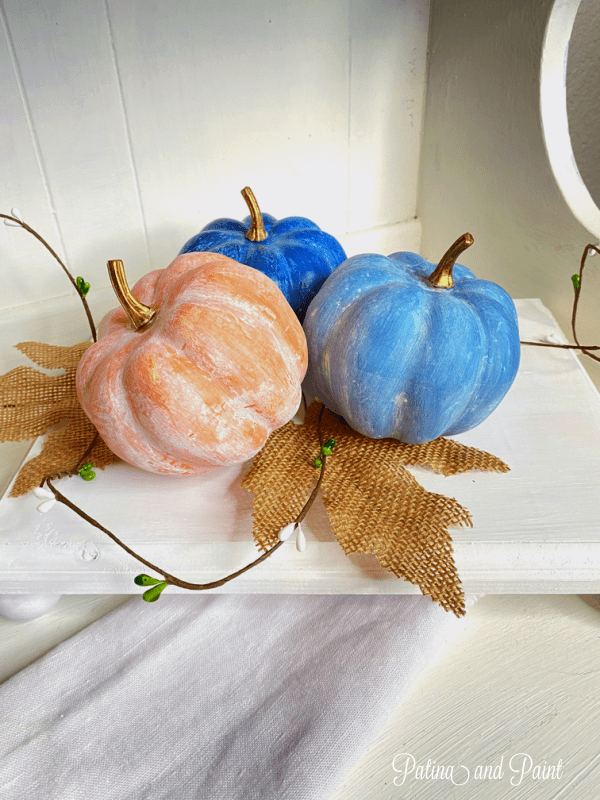 painted fall pumpkins
