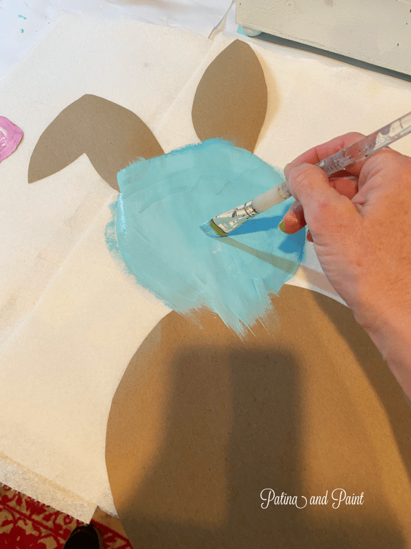 painting a bunny