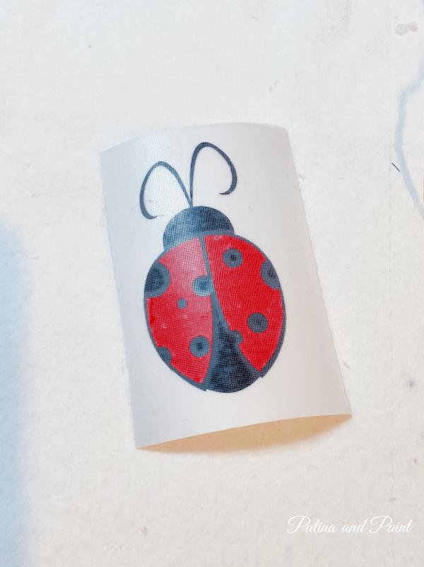 ladybug vinyl transfer