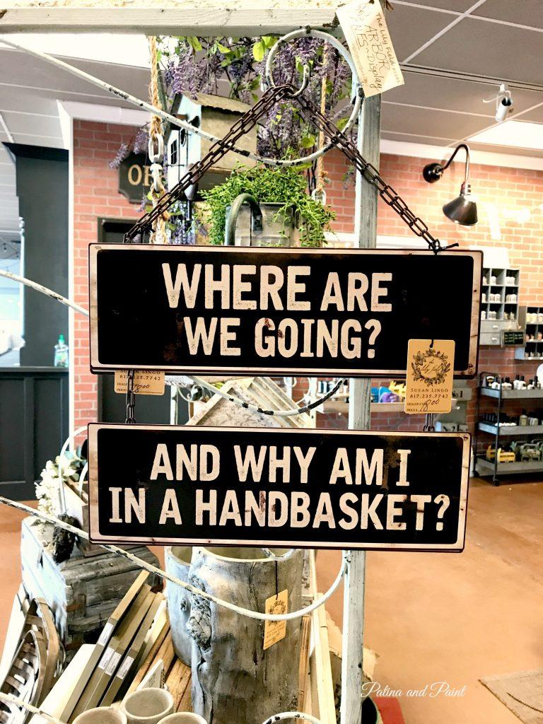 Why Am I In A Handbasket?