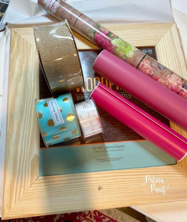 ribbon, vinyl, wrapping paper, frame