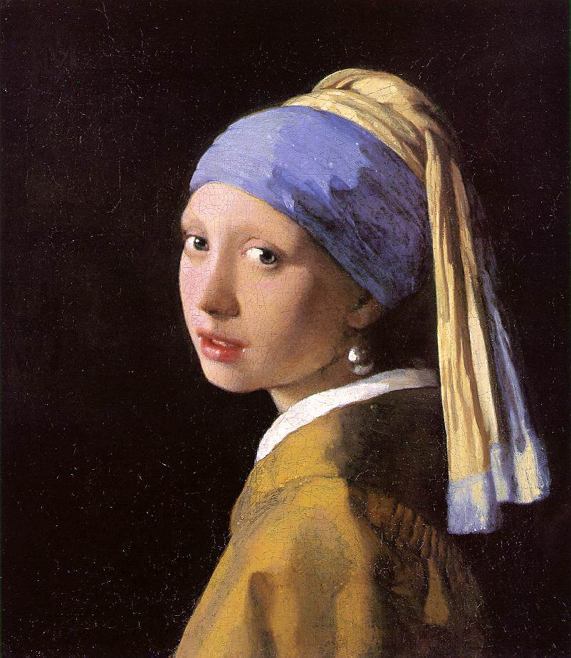 Oil painting by Dutch Golden Age old master painter Vermeer
