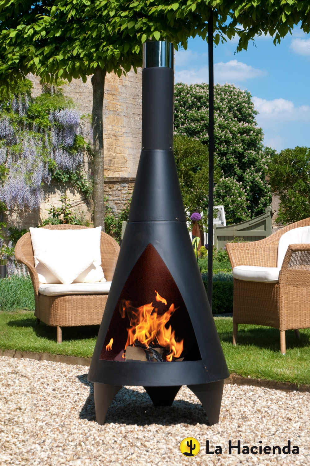 Patio Life  La Hacienda Colorado XL Steel Chiminea