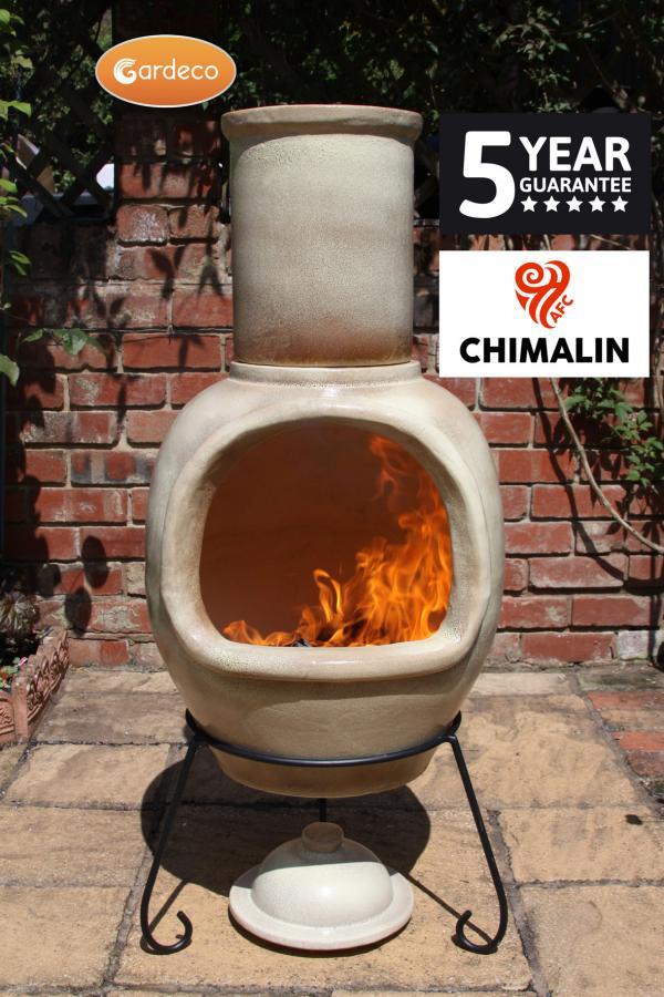 Gardeco Asteria Chimalin AFC XL Brown Chiminea  Patio Life