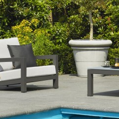 Chair Covers And More Norfolk Navy Blue Dining Chairs Uk Patio Life // Leisure Block Aluminium Lounge Set & Coffee Table