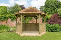 Royal Thatched Garden Gazebo 3.6 Meter Patio Life