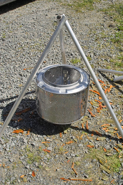 Diy Smokeless Fire Pit From Washing Machine Drum : smokeless, washing, machine, Little, Patio, Supply, Outdoor, Living