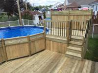 Patios & decks piscine - Patio Bois Trait