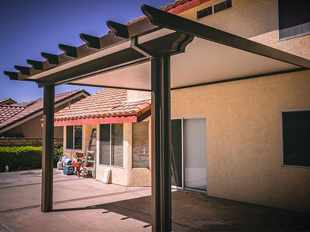 aluminum patio cover non insulated